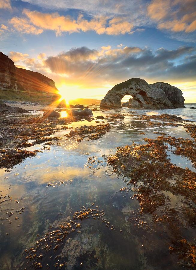 Sunset Photograph - The Sun Fortress by Pawel Klarecki