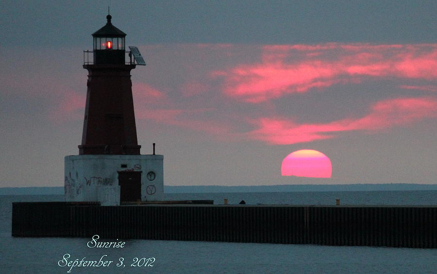 Light House Photograph - The Sun Is Rising  by Sheila Werth