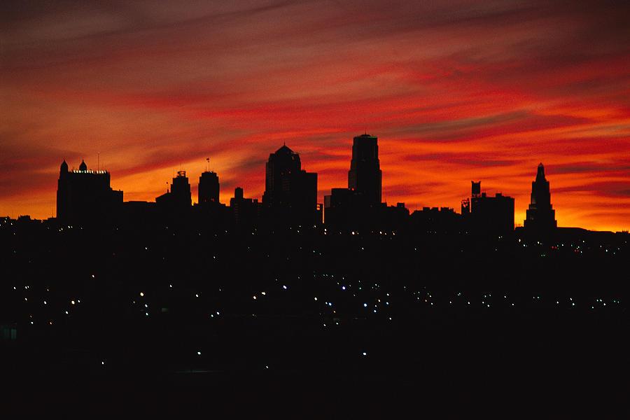 Skylines Photograph - The Sun Rises Over The Skyline by Stephen Alvarez