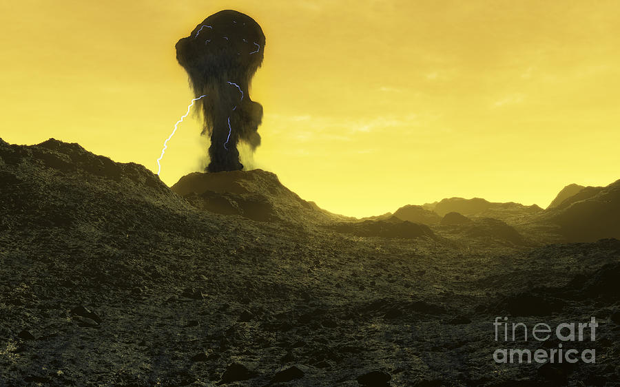 Venus Digital Art - The Surface Of An Infernal Planet by Fahad Sulehria