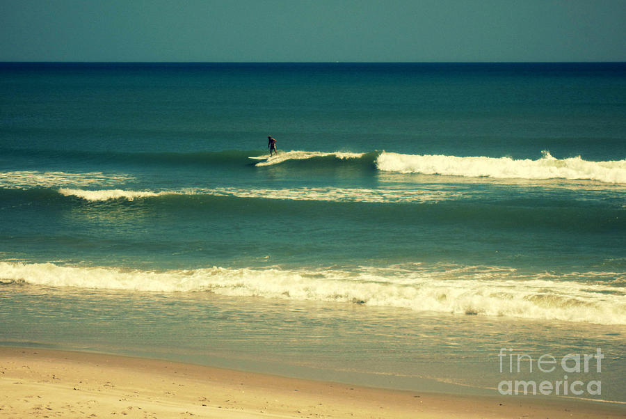 Surfer Photograph - The Surfer Guy by Susanne Van Hulst