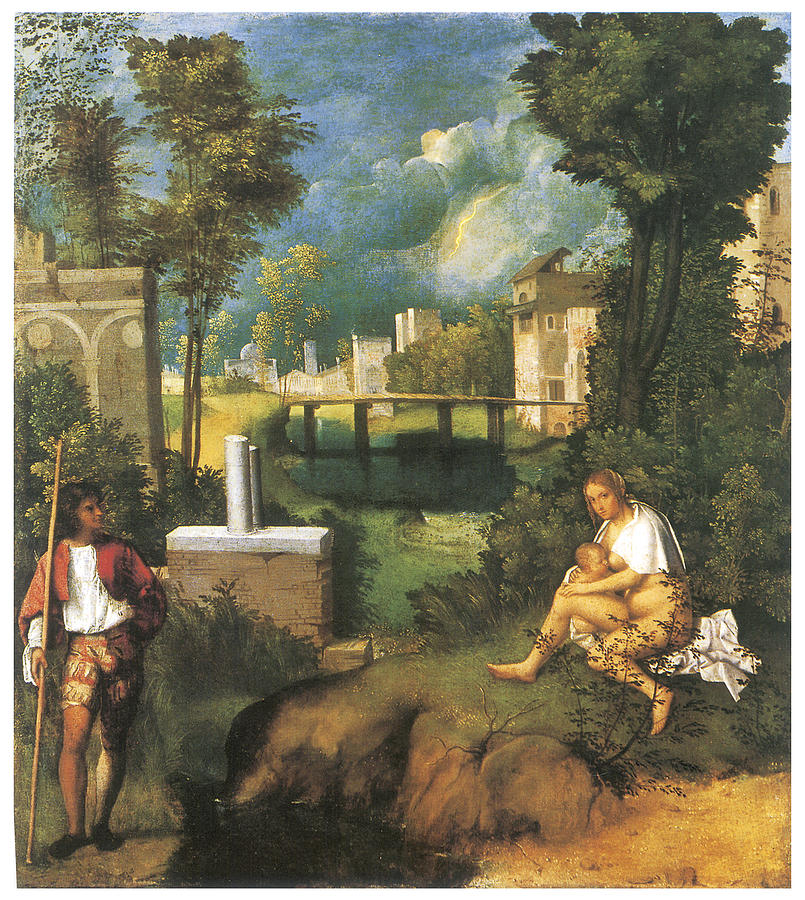 Giorgione Painting - The Tempest by Giorgione