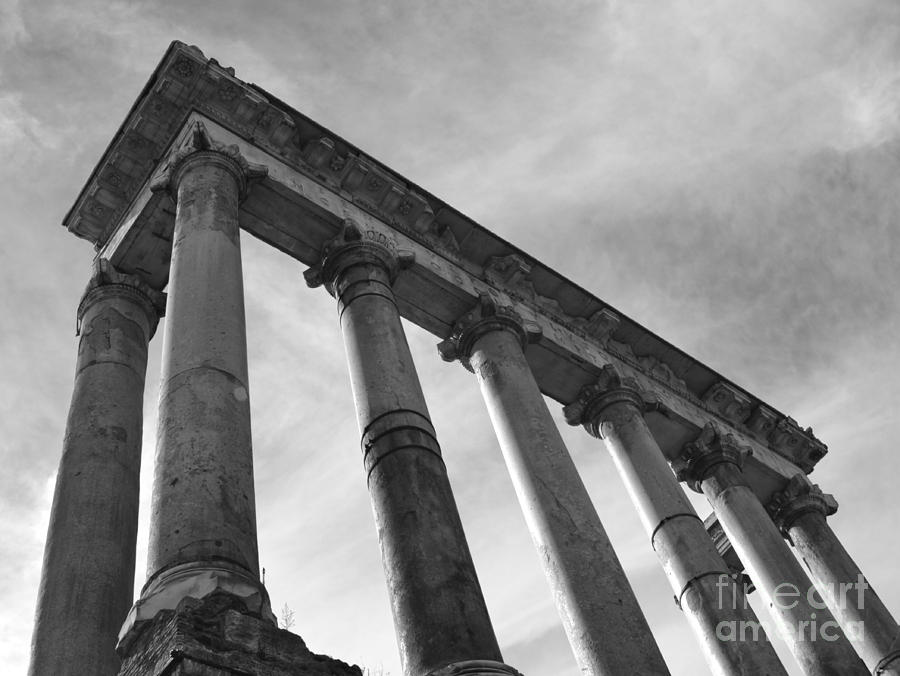 Temple Of Saturn Photograph - The Temple Of Saturn by Chris Hill