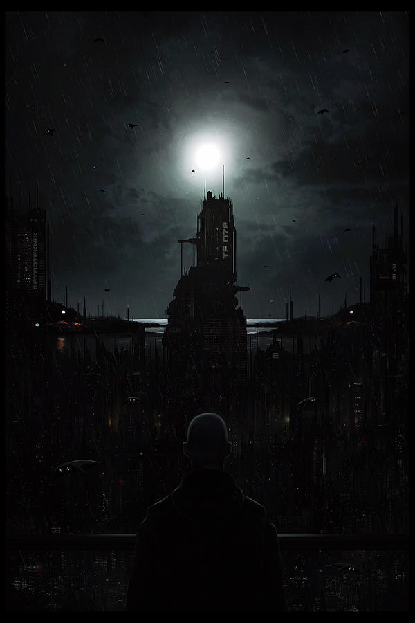 Martin Digital Art - The Tenebrous Sprawl by Martin Bland