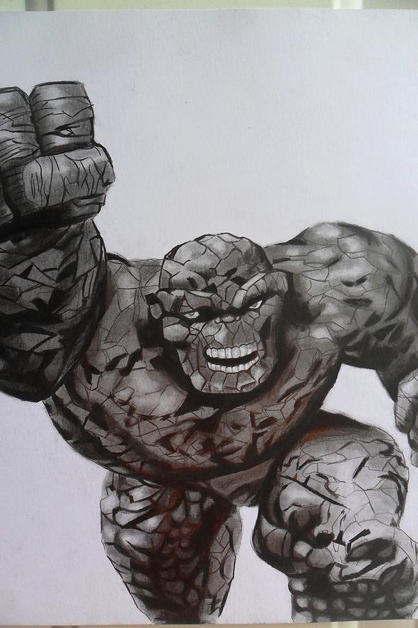 The Thing Drawing - The Thing by Luis Carlos A