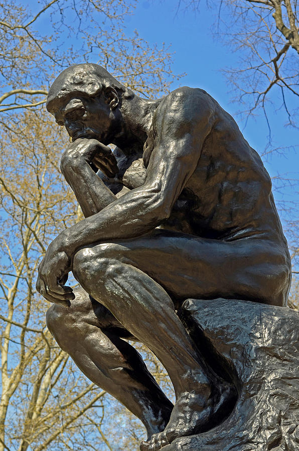 the thinker by rodin photograph by lisa phillips