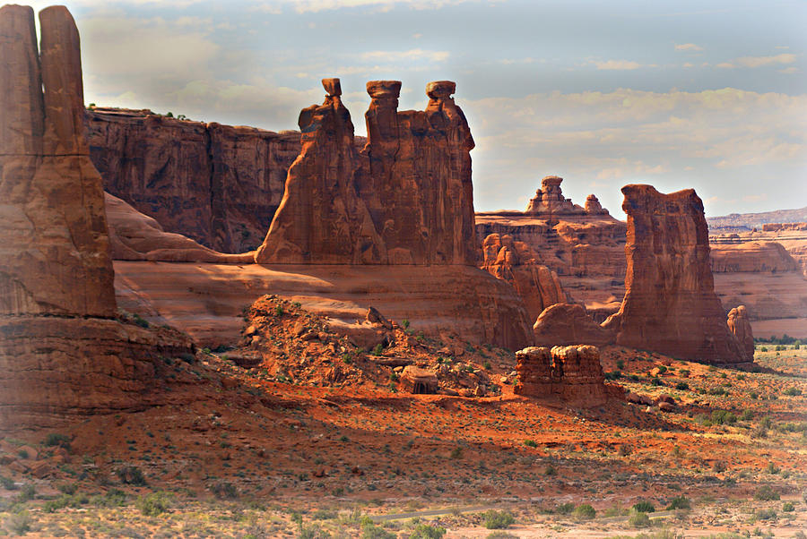 Arches National Park Photograph - The Three Gossips by Marty Koch