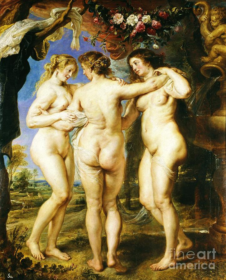 Reproduction Painting - The Three Graces by Pg Reproductions