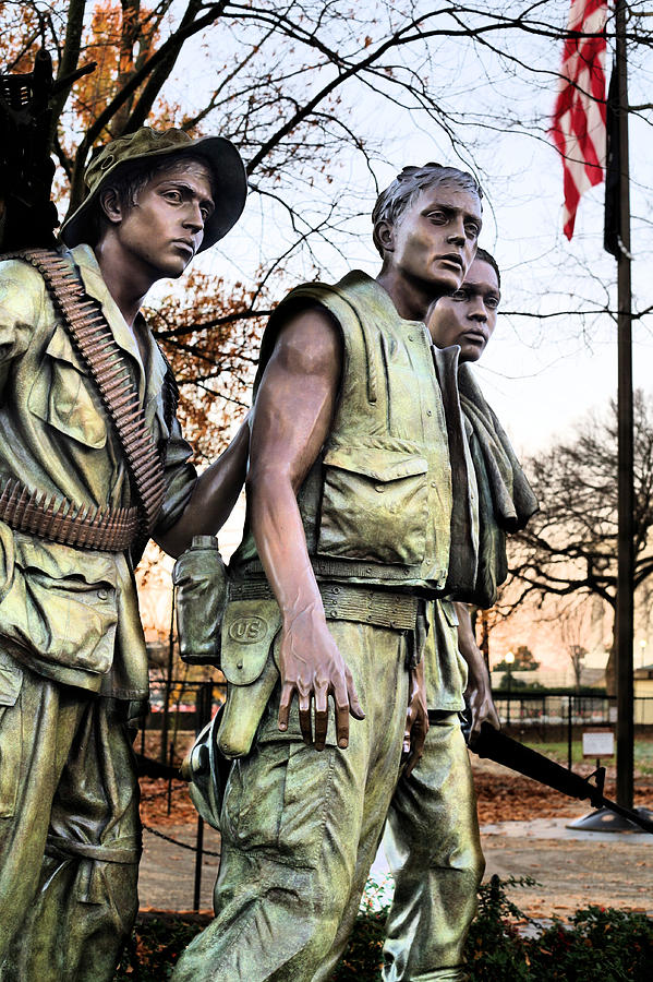 Vietnam Wall Photograph - The Three by JC Findley