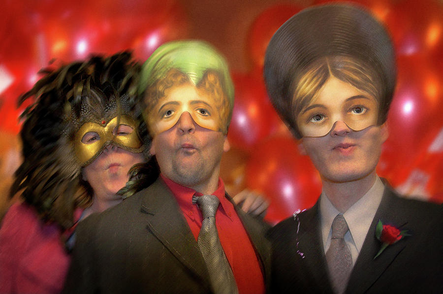 Mask Photograph - The Three Masketeers by Richard Piper