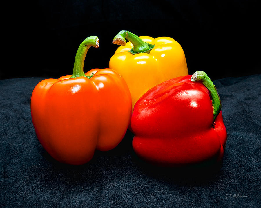 Vegetable Photograph - The Three Peppers by Christopher Holmes