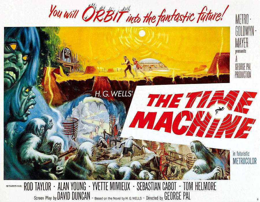 1960 Movies Photograph - The Time Machine, Style B Half-sheet by Everett