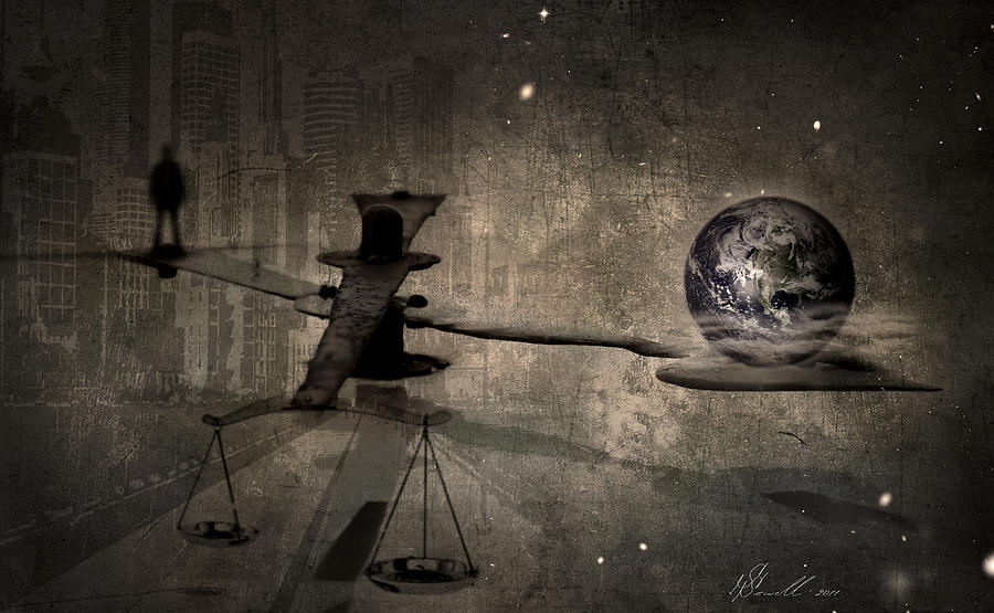 Analogue Digital Art - The Time by Svetlana Sewell