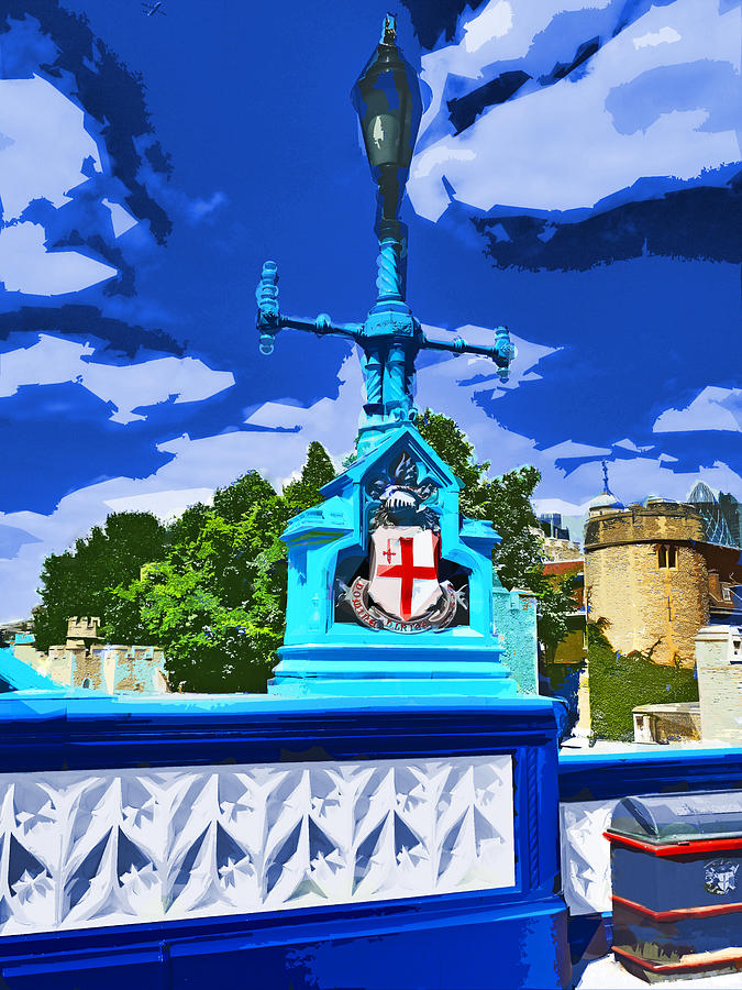 Tower Photograph - The Tower Lamp Post by Steve Taylor