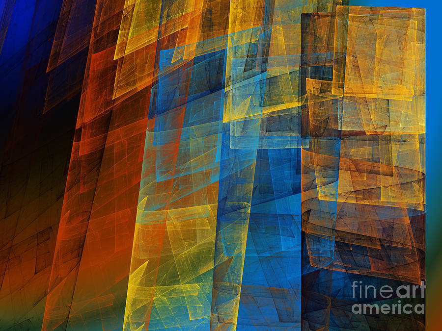 Fractal Digital Art - The Towers 2 by Andee Design