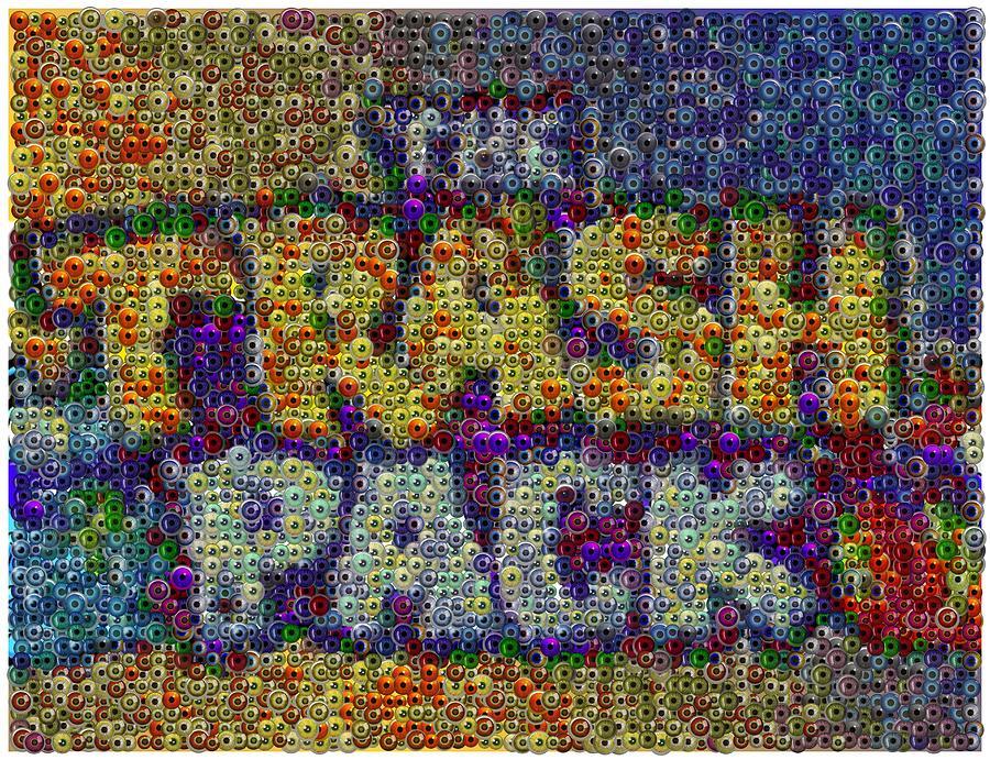 Eyeball Digital Art - The Trash Pack Eyeball Mosaic by Paul Van Scott