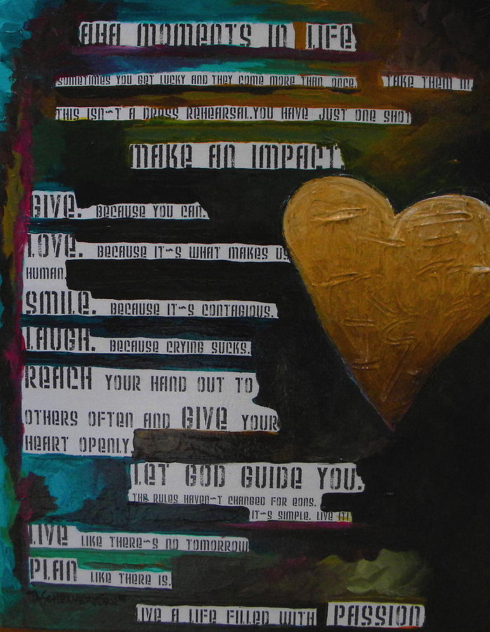Aha Moments Painting - The Truth Is by Patti Schermerhorn