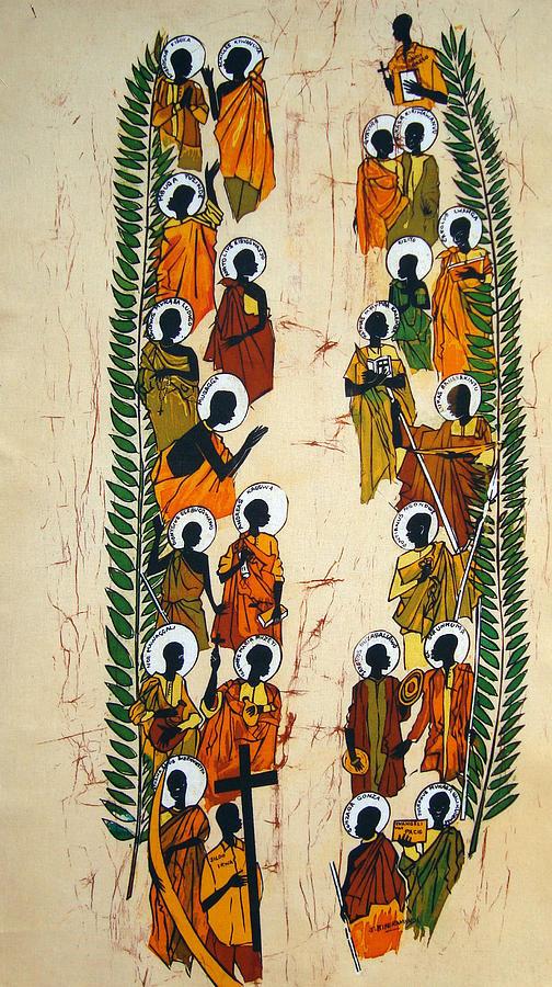 Martyrs Tapestry - Textile - The Uganda Martyrs by Joseph Kalinda