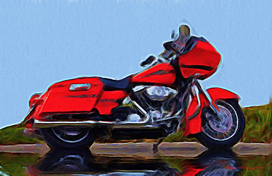 Road Glide Painting - The Ultimate by Wayne Bonney
