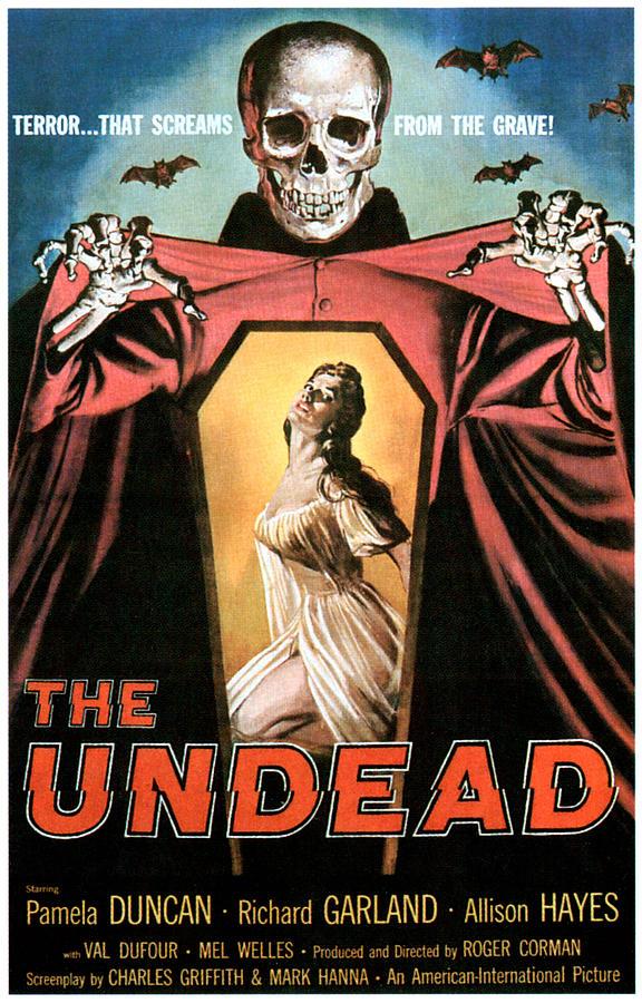 1957 Movies Photograph - The Undead, Pamela Duncan, 1957 by Everett