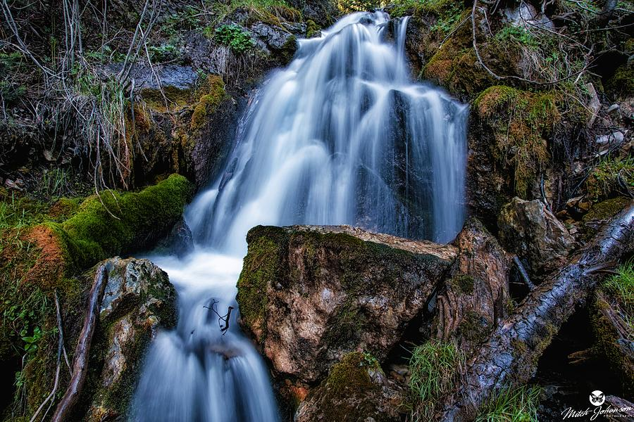 Waterfall Photograph - The Upper Butler Fork Falls by Mitch Johanson