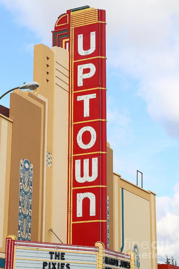 Theater Photograph - The Uptown Theater In Napa California Wine Country . 7d8982 by Wingsdomain Art and Photography