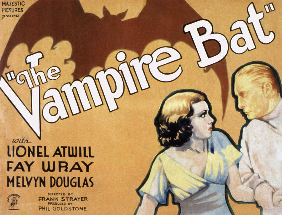 1930s Movies Photograph - The Vampire Bat, Fay Wray, Lionel by Everett