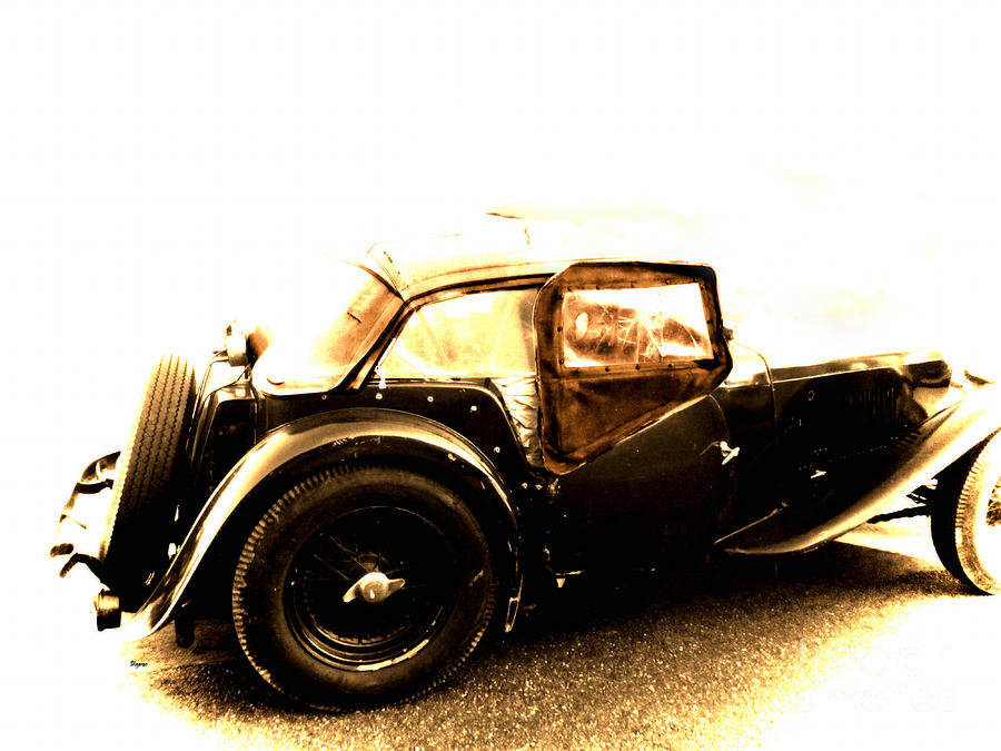 Cars Photograph - The Vintage Of British Time by Steven Digman