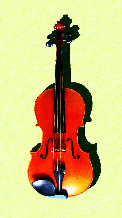 Music Photograph - The Violin . Light Version . Painterly by Wingsdomain Art and Photography