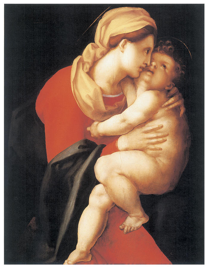 Jacopo Da Pontormo Painting - The Virgin And Child by Jacopo Da Pontormo