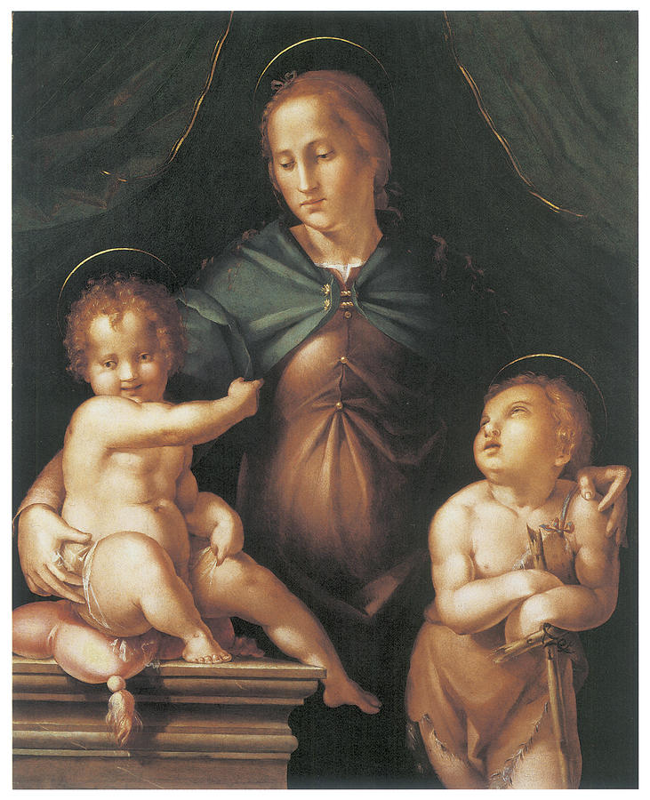 Pier Francesco Foschi Painting - The Virgin And Child  by Pier Francesco Foschi