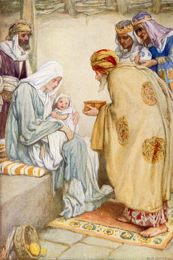 Bible Painting - The Visit Of The Wise Men by Arthur A Dixon