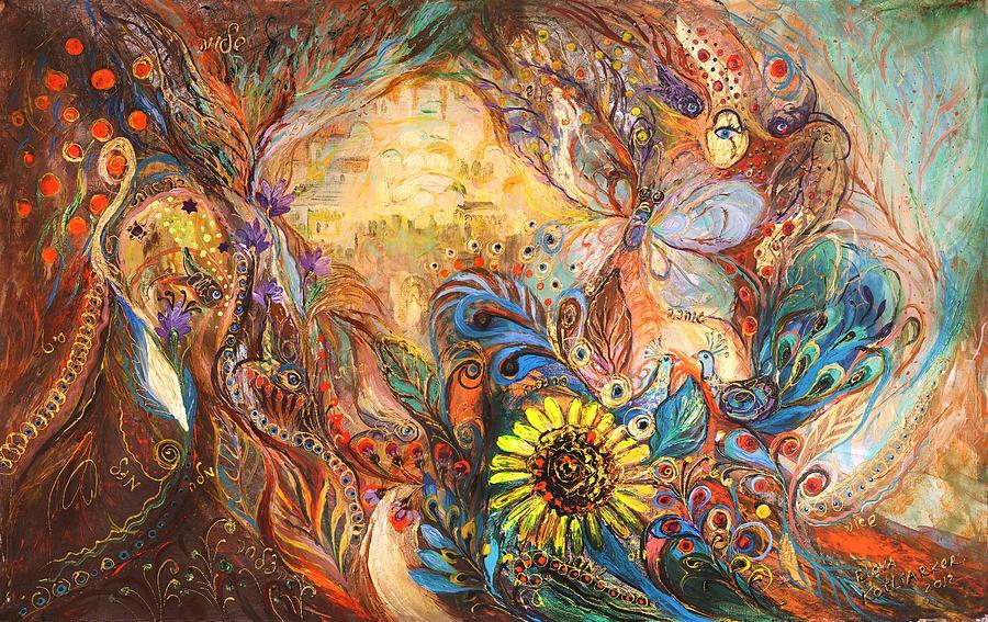 Judaica Painting - The Walls Of Childhood by Elena Kotliarker