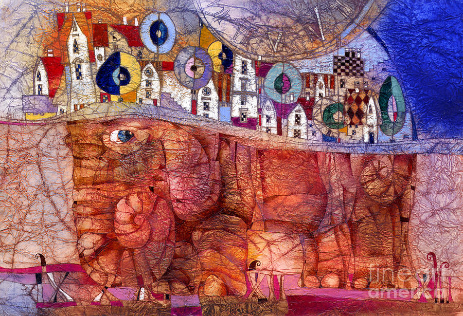 The Wandering Elephant Mixed Media by Svetlana and Sabir Gadghievs