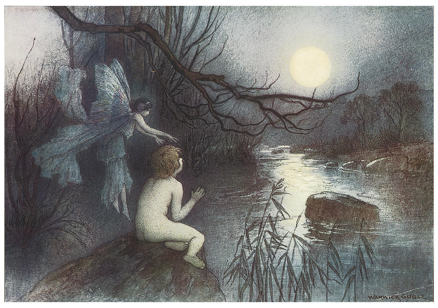 Warwick Goble Painting - The Water Babies by Warwick Goble