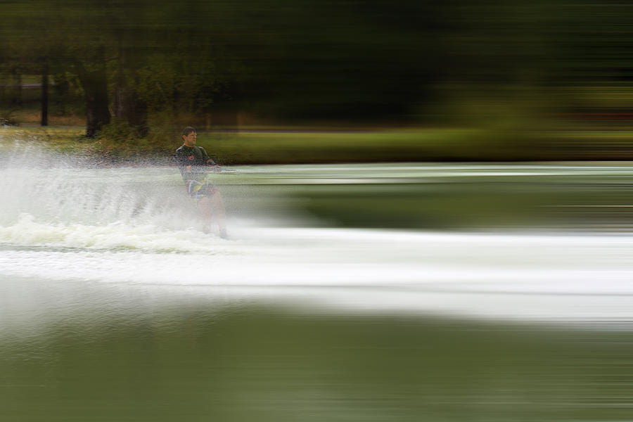 Person Photograph - The Water Skier 2 by Douglas Barnard