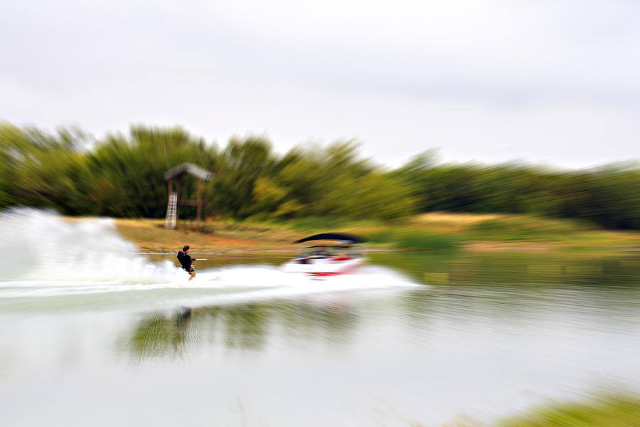 Boat Photograph - The Water Skier 3 by Douglas Barnard