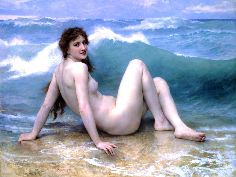 Nude Painting - The Wave by Sumit Mehndiratta