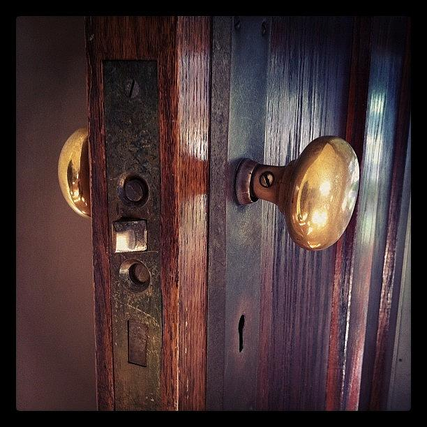 Door Knob Photograph - The Way In by Michelle Calkins