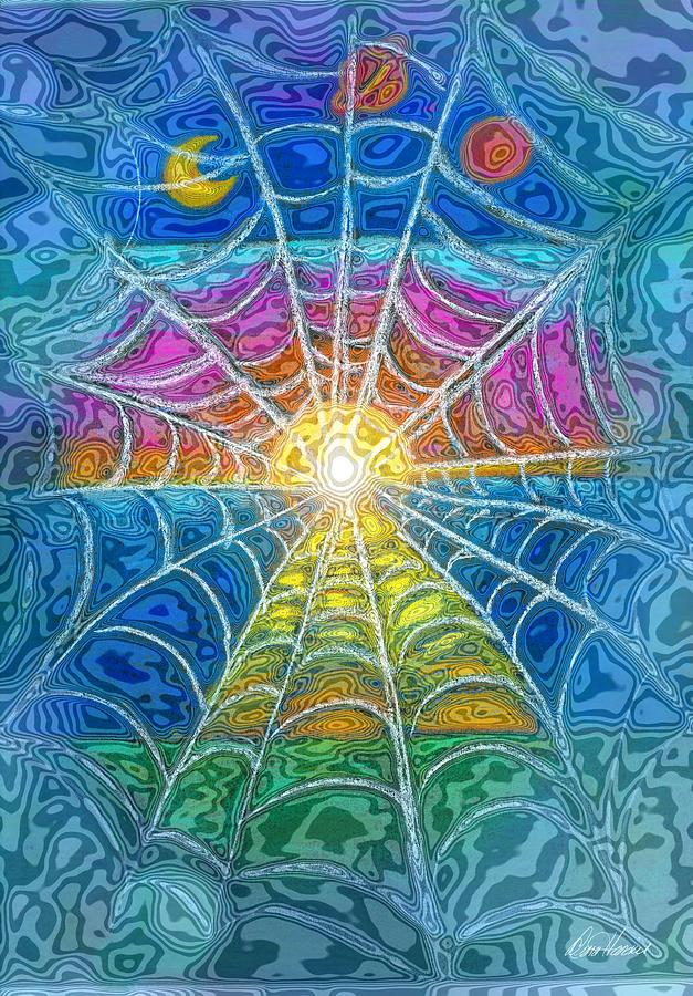 Web Digital Art - The Web of Wyrd by Diana Haronis