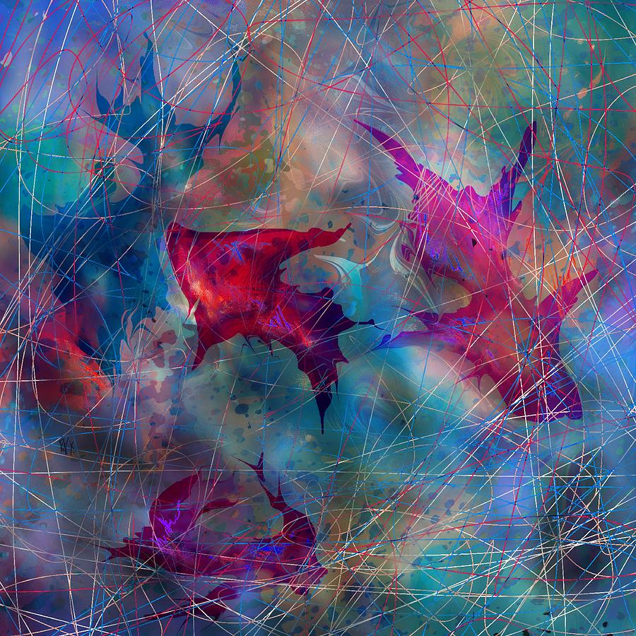 Landscape Digital Art - The Webs Of Life by Rachel Christine Nowicki