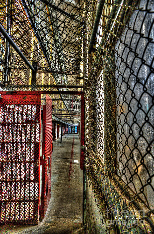 West Virginia State Penitentiary Photograph - The West Virginia State Penitentiary Cell Hallway by Dan Friend