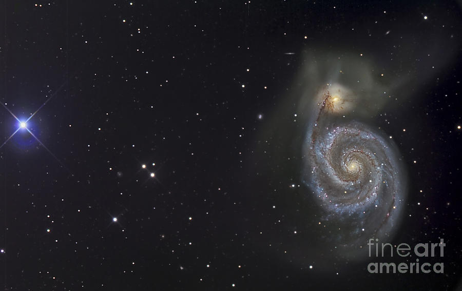 Astronomy Photograph - The Whirlpool Galaxy by R Jay GaBany