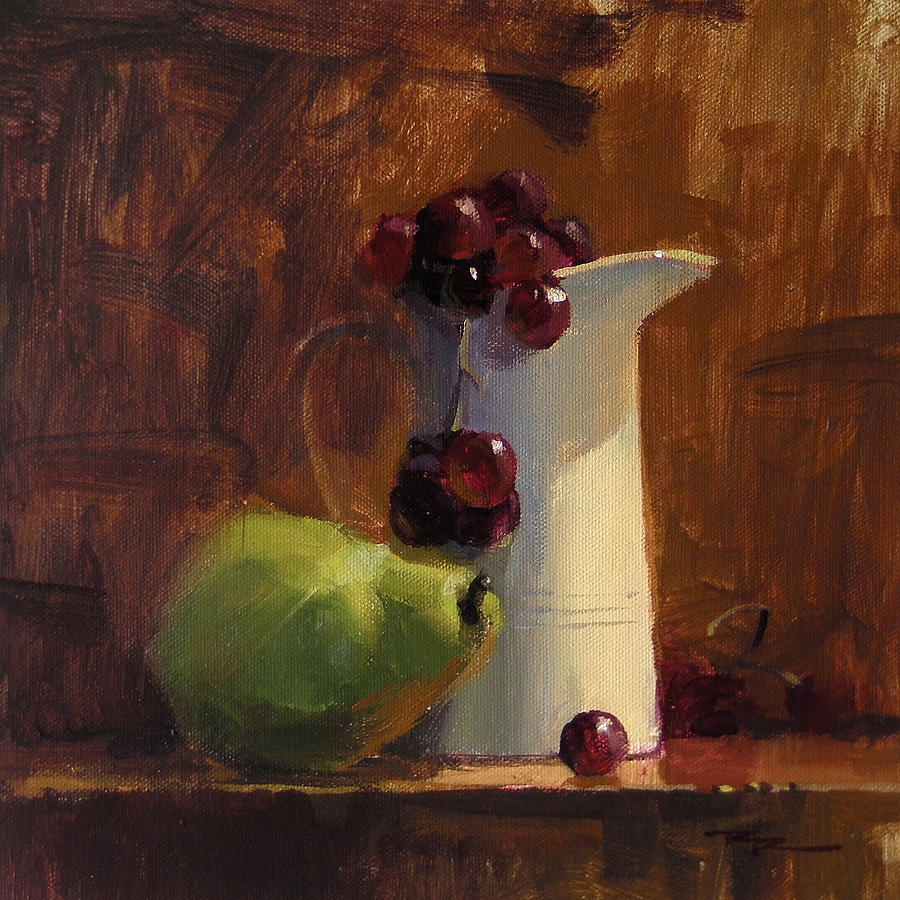 Still Life Painting - The White Jug by Richard Robinson