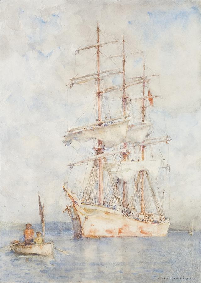 The White Ship Painting - The White Ship by Henry Scott Tuke