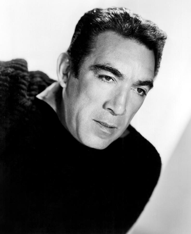1950s Portraits Photograph - The Wild Party, Anthony Quinn, 1956 by Everett