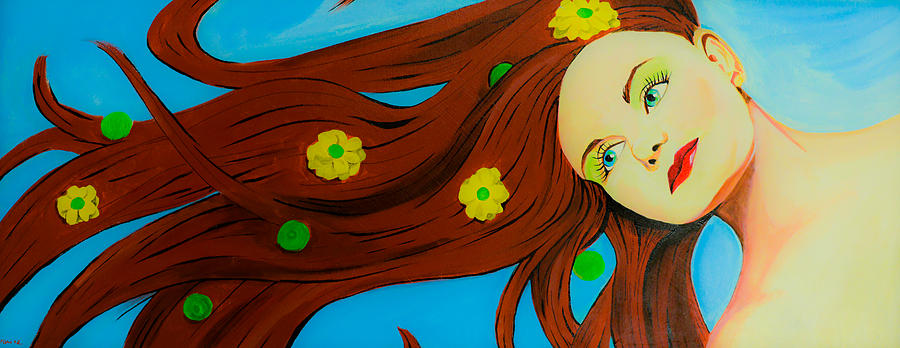 Love Painting - The Wind Blows A Kiss by Chris  Leon