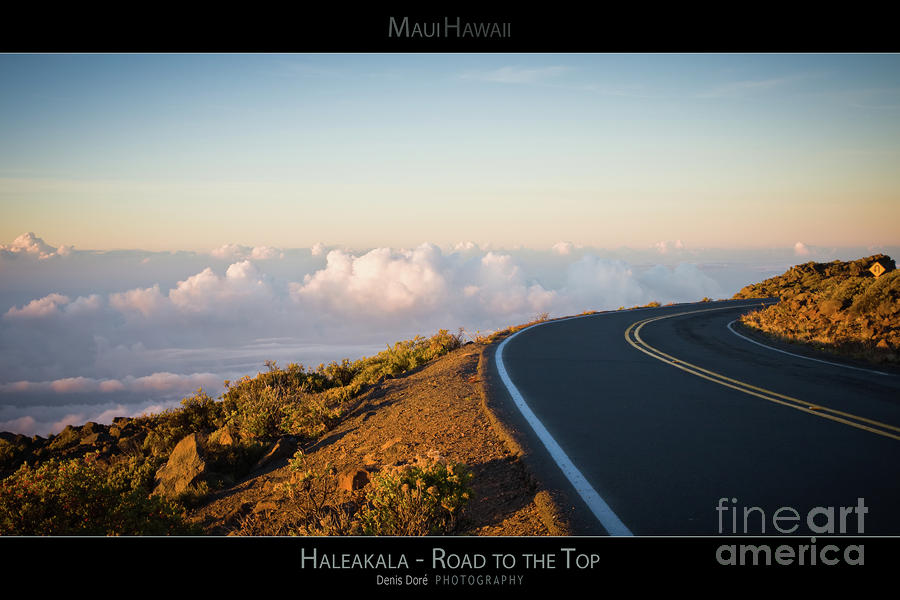 Adventure Photograph - The Winding Road to the Top of Haleakala - Maui Hawaii Posters Series by Denis Dore