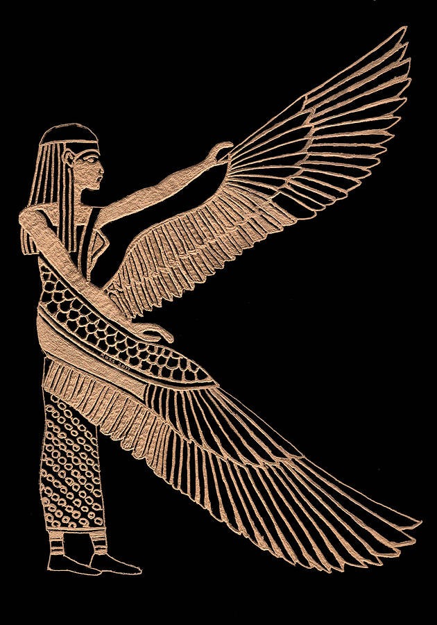 Isis Sculpture - The Winged Isis by Jim Ross