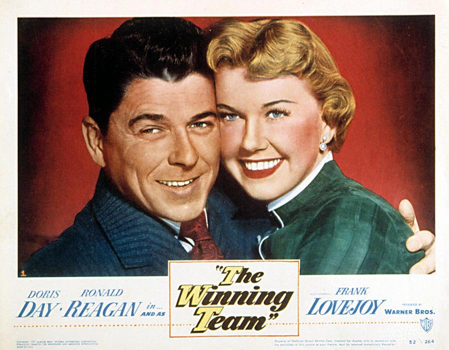 1950s Movies Photograph - The Winning Team, Ronald Reagan, Doris by Everett